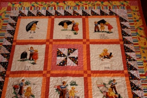 Sophie's Dick and Jane quilt