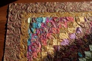 Bohemian bargello quilting detail