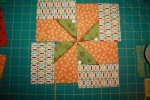 BLOCK THREE Zigs Pinwheels Multi Orange Green