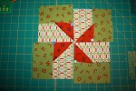 BLOCK FOUR Zigs Pinwheels Green Multi Red