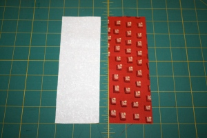 2.5 inch strips of fabric