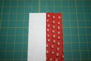 Two strips sewn together.