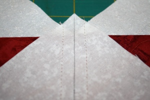 The two seams after stitching again.