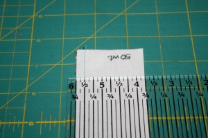 Sample of 50 wt thread.