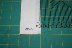 Sample of 28 wt thread.