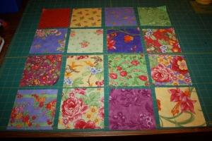 16 charm squares