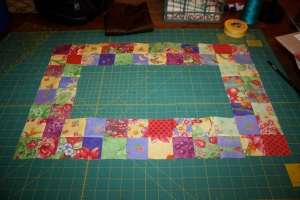 These four patches will create the border for your Easter Mini Quilt.