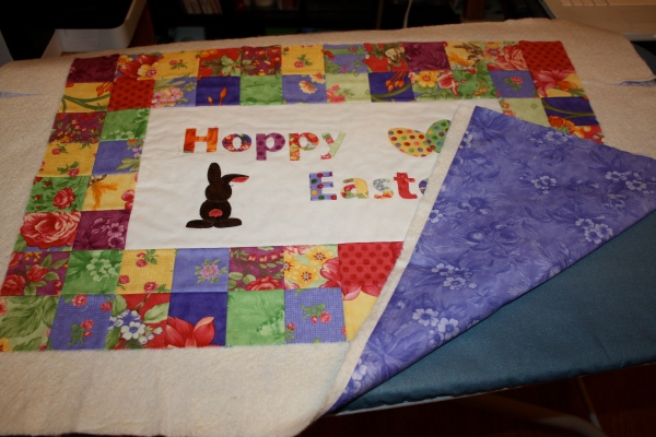 The finished fused quilt.