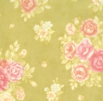 Moda Fresh Cottons Apple Green lg floral