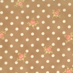 Moda Fresh Cottons Brown Suede Dots