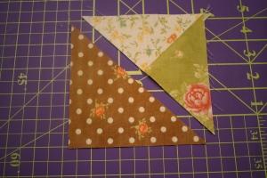 Summer Star Sampler Block Four Triangles