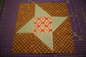 Summer Star Sampler Block Three finished